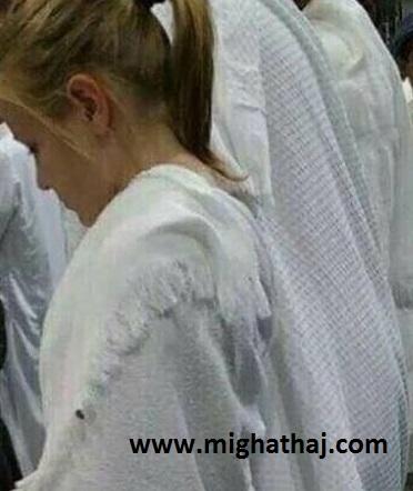 بي حجابي دختري در مراسم حج امسال